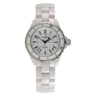 Unisex White Ceramic Collection Stainless Steel Watch