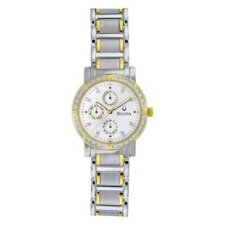 Bulova Mens Diamonds Two tone Stainless Steel Quartz Watch