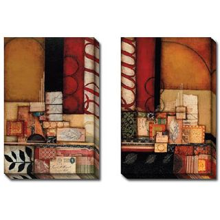 DeRosier Triumph I and II 2 piece Canvas Art Set