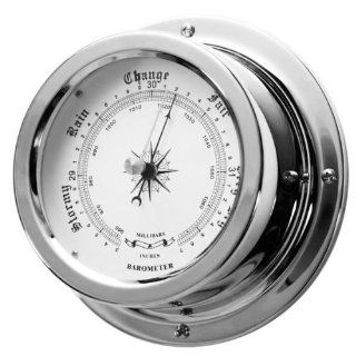 Ambient Weather GL152 B C 6 Nautical Barometer, Chrome