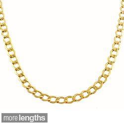 Fremada 10 karat Yellow Gold 3.6mm Curb Chain (18 30 inch) Today $229