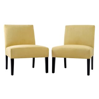 Portfolio Niles Kiwi Green Microfiber Armless Chairs (Set of 2