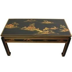 Black Wood Lacquered Coffee Table (China)