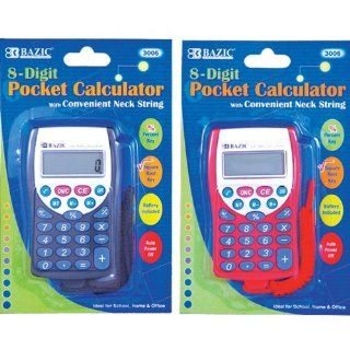 Pocket Size Calculator with Neck String (Case of 144)