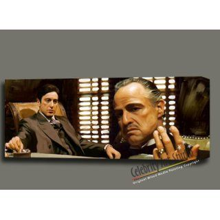 GODFATHER THE CORLEONE FAMILY ORIGINAL PAINTING CANVAS