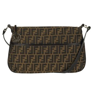 Fendi Brown Canvas Crossbody Handbag
