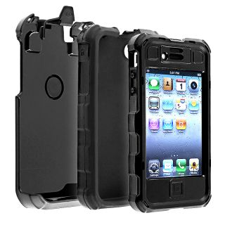 Ballisic Apple iPhone 4S OEM Black Hard Core Case HA0694 M005