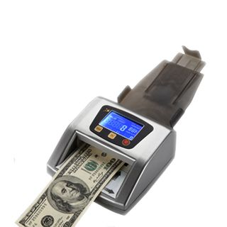 Professional Automatic Counterfeit Money Detector by UV, MG and IR