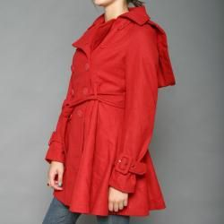 Red Fox Womens Red Double breasted Wool blend Coat