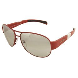 Prada SPS551 5AV Red Metal Womens Aviator Sunglasses