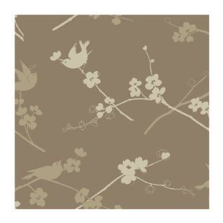 York Wallcoverings AP7440 Silhouees Cherry Blossom and Birds