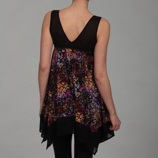Dylan & Rose Juniors Plum Print Empire Top
