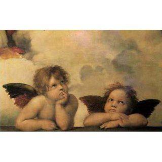 Raphael   Die Sixtinische Madonna (Detail) Poster Kunstdruck (90 x