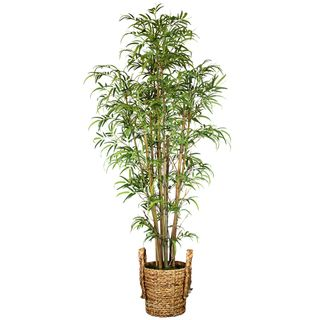 Laura Ashley Silk Bamboo Tree with Basket Planter