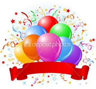 Birthday balloons design  Stock Vector © Anna Velichkovsky #1522903