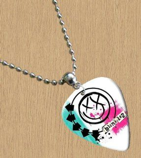 Blink 182 (White) Premium Guitar Pick Necklace Explore