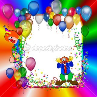 Birthday inviation background with clown  Stock Photo © Petra Roeder