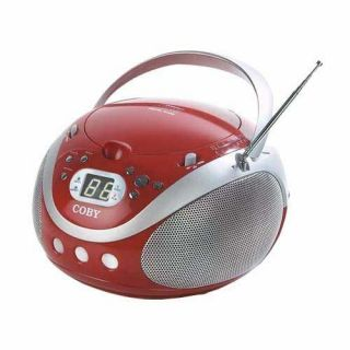 Coby CX CD241 Red Portable CD Player/Radio