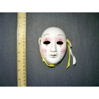 Ceramic Mini Mardi Gras Face Mask for Wall   201 E Everything Else