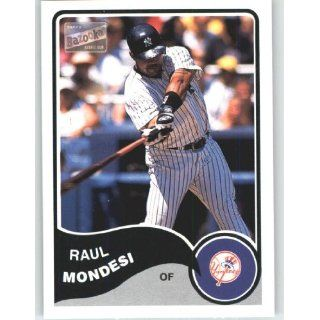 2003 Bazooka #221 Raul Mondesi   New York Yankees (Baseball Cards)