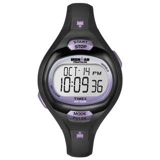 Timex Womens Ironman Pulse Calculator Black/ Purple Resin Watch