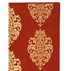 Indoor/ Outdoor St. Martin Red/ Natural Rug (710 Square)