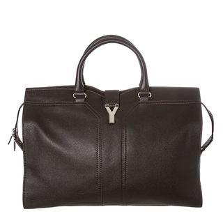 Yves Saint Laurent ChYc Black Textured Leather Travel Bag