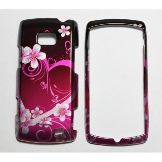 Purple Heart with Flowers LG Ally Vs740 Protector Case