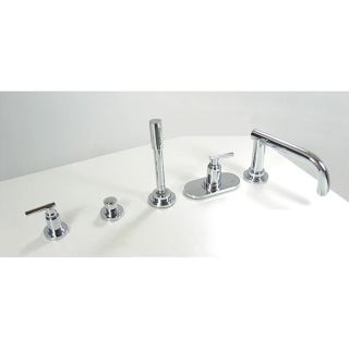 Grohe Atrio Thermo Roman Tub Chrome Faucet Set with Lever Handles