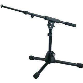 K&M 259/1 Black Extra Low Profile Tripod Microphone Stand
