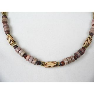 Palmtree Gems 19 El Camino Sea Urchin Wood and Bone Mens Necklace