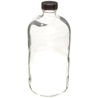 Wheaton 220776 Safety Coated Bottle, Boston Round Style, Clear Glass