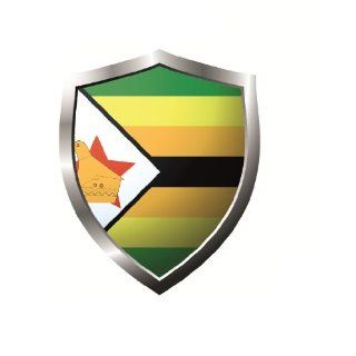 Zimbabwe country shield flag Sticker Vinyl Decal 5 x 4