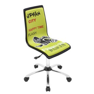 Printed Green Graffiti Urban Office Chair