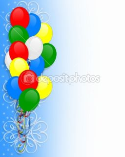 Birthday invitation Balloons border  Stock Photo © Irisangel