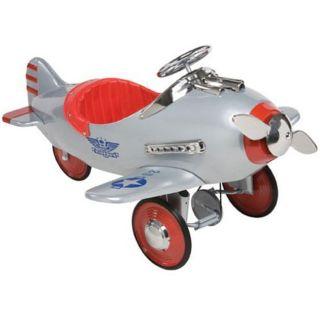 Silver Pursuit Airplane Pedal Car