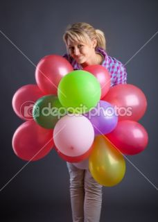 Young girl holding balloons  Stock Photo © Natalia Ulrikh #2236369