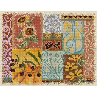 Abstractions Tuscany Counted Cross Stitch Kit 14X11 14 Count Today