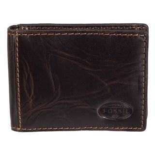 Fossil Mens Norton Brown Leather Bi fold Wallet
