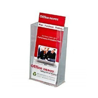 Brochure Holder Wall Mount Trifold Holds 4x9 Literature Acrylic Clear
