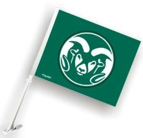 Colorado State Rams Car Flag Vibrant Colors & Features the