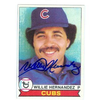 Willie Hernandez autographed baseball card 1979 Topps #614
