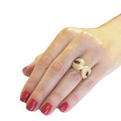 Adee Waiss 18k Gold over Brass Loop Ring