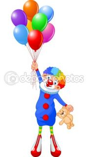 Clown and Balloons  Stock Vector © Anna Velichkovsky #2351020