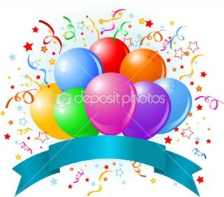 Birthday balloons design  Stock Vector © Anna Velichkovsky #2351122