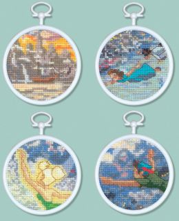 Peter Pan Mini Vignettes Counted Cross Stitch Kit 3 Round 16 Count