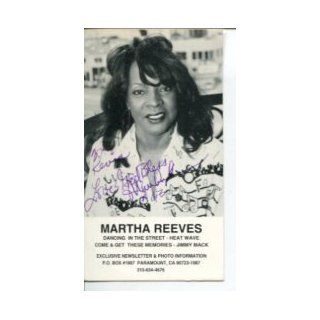 Martha Reeves The Vandellas Singer Rock & Roll HOF Signed