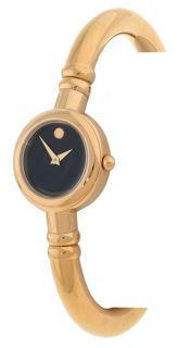 Movado Bareleto Womens Goldtone Bangle Watch