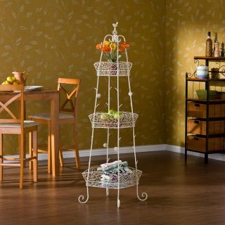 Abbey Antique White 3 tier Stand