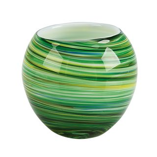 IMPULSE! Galaxy Green Glass Votive Candle Holders (Set of 3